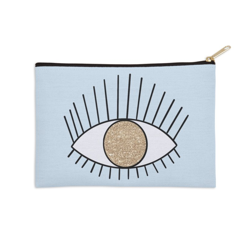 Golden Eye in Zip Pouch by Astro Kitty