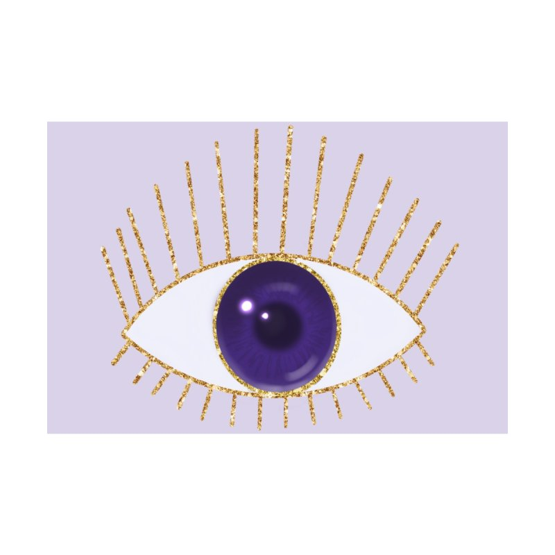 Purple Eye Accessories Zip Pouch by Astro Kitty