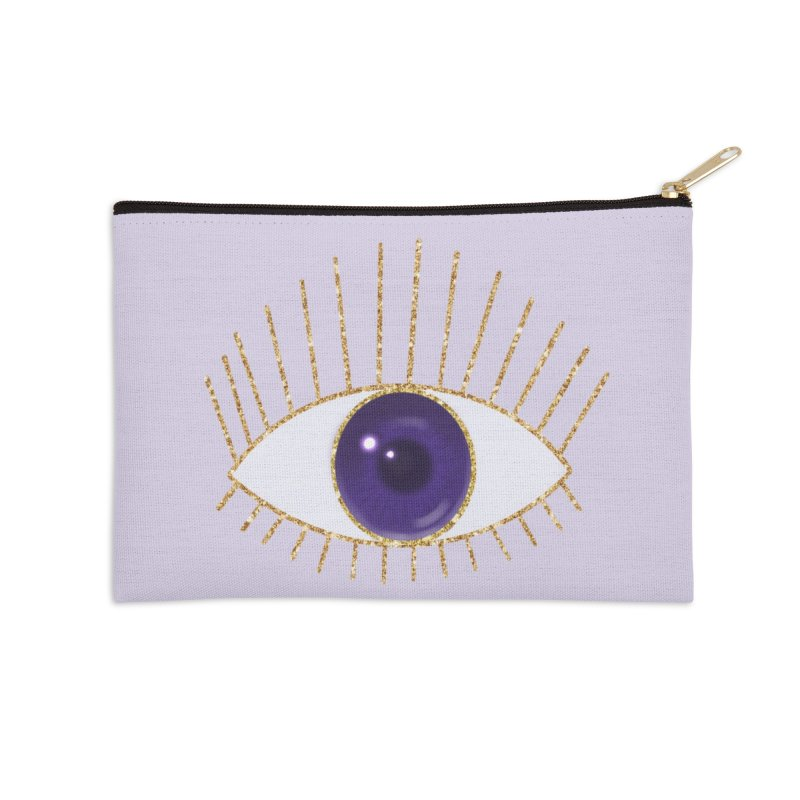 Purple Eye in Zip Pouch by Astro Kitty