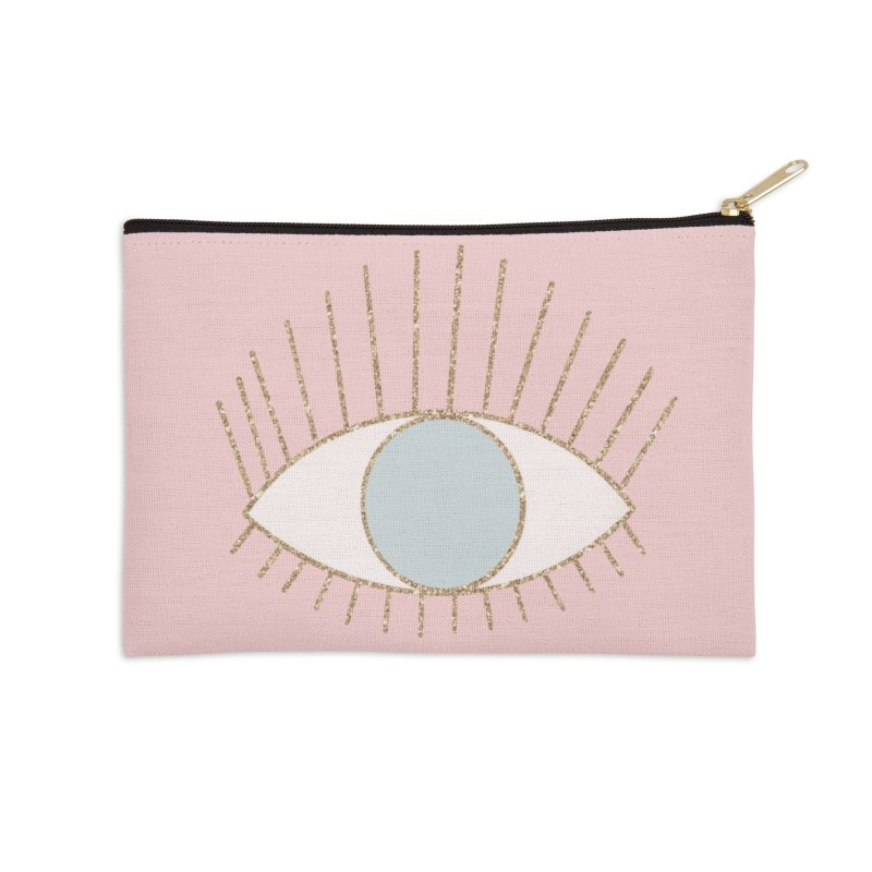 Blue Eye Accessories Zip Pouch by Astro Kitty