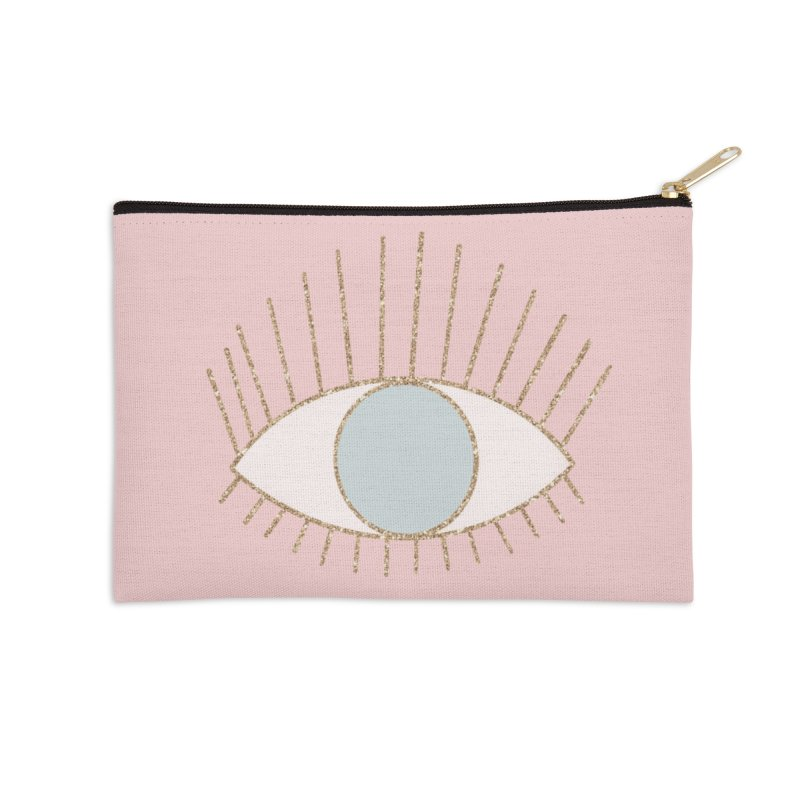 Blue Eye in Zip Pouch by Astro Kitty