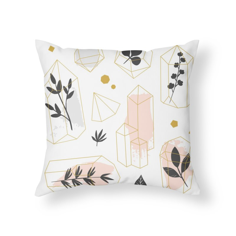 Crystals & Herbs Home Throw Pillow by Astro Kitty