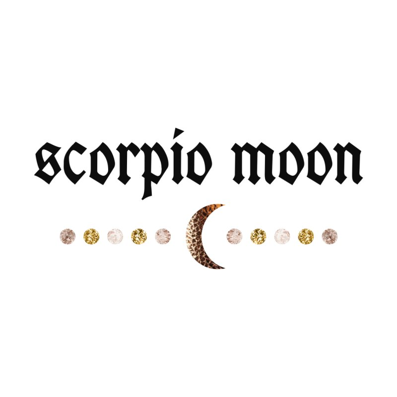 Scorpio Moon White Men's T-Shirt by Astro Kitty