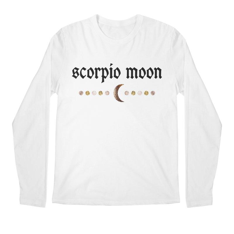 Scorpio Moon White Men's Regular Longsleeve T-Shirt by Astro Kitty