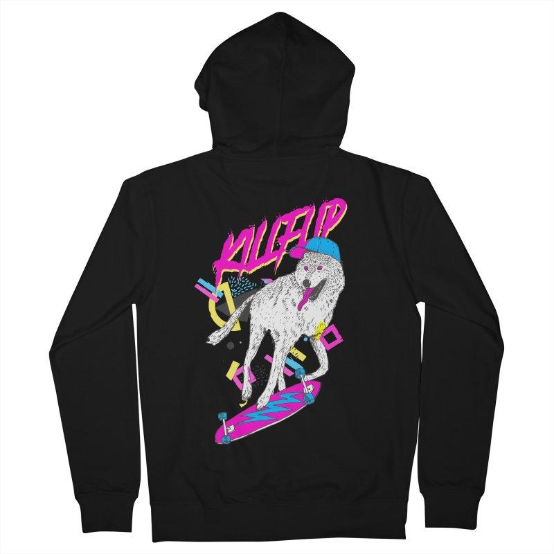 Kickflip Men's Zip-Up Hoody by Astronaut's Artist Shop
