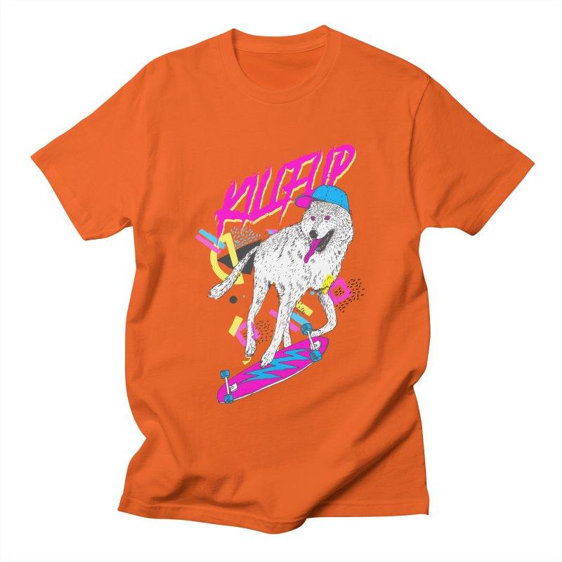 Kickflip Men's T-shirt by Astronaut's Artist Shop