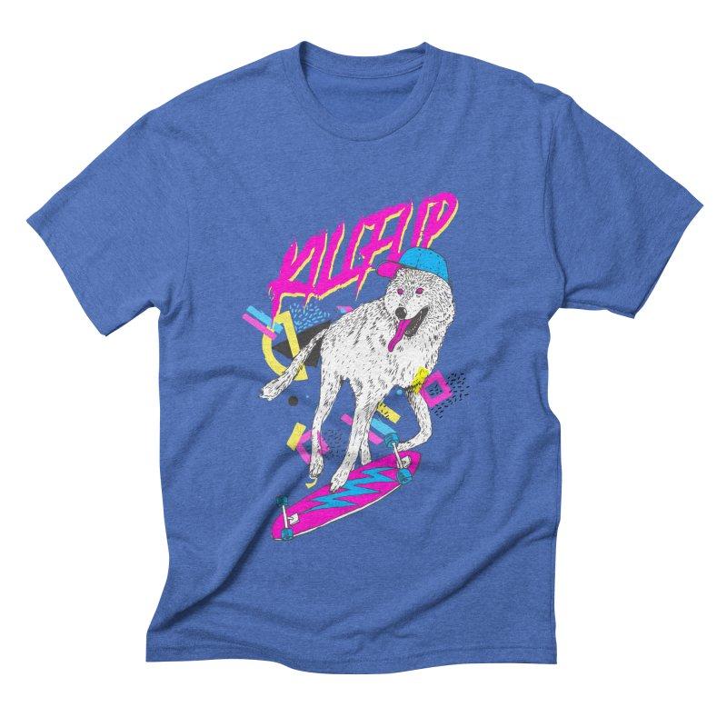 Kickflip Men's Triblend T-Shirt by Astronaut's Artist Shop
