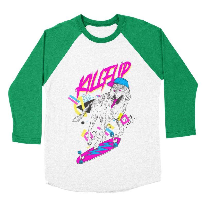 Kickflip Men's Baseball Triblend T-Shirt by Astronaut's Artist Shop