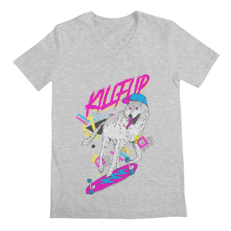 Kickflip Men's V-Neck by Astronaut's Artist Shop