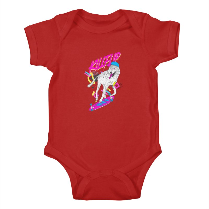 Kickflip Kids Baby Bodysuit by Astronaut's Artist Shop