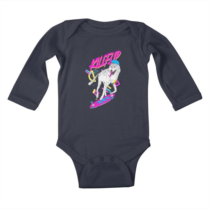 Kickflip Kids Baby Longsleeve Bodysuit by Astronaut's Artist Shop