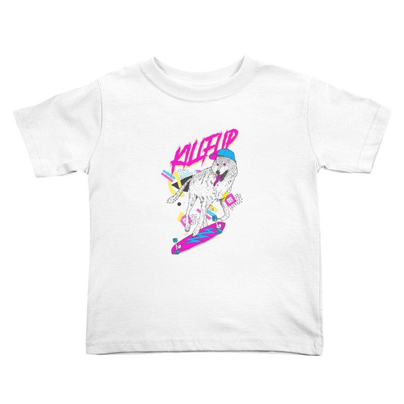 Kickflip Kids Toddler T-Shirt by Astronaut's Artist Shop