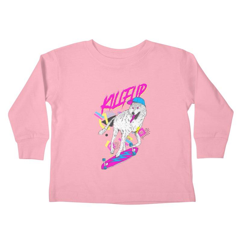 Kickflip Kids Toddler Longsleeve T-Shirt by Astronaut's Artist Shop