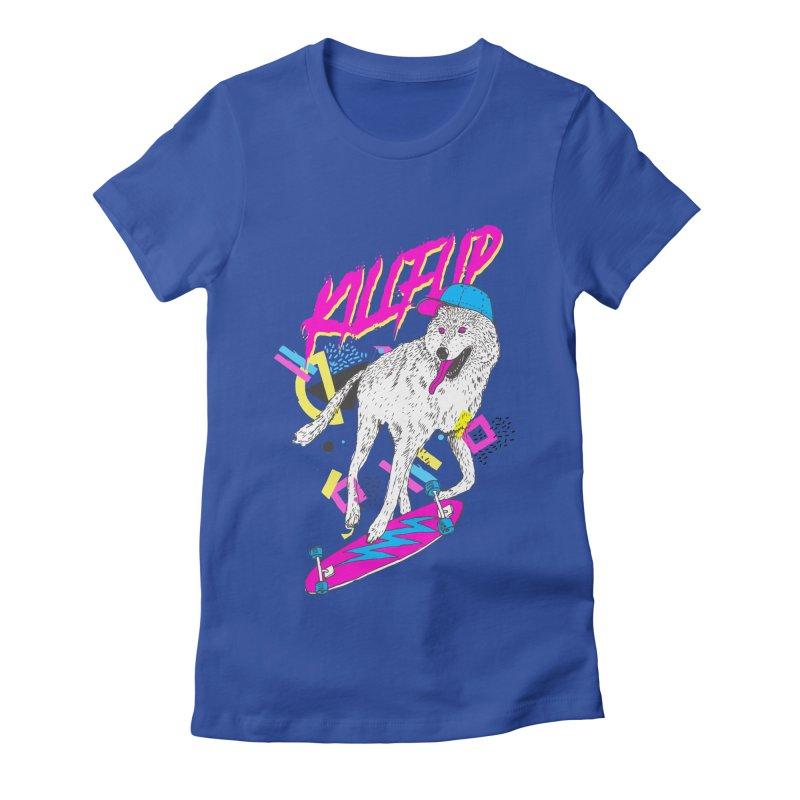 Kickflip Women's Fitted T-Shirt by Astronaut's Artist Shop