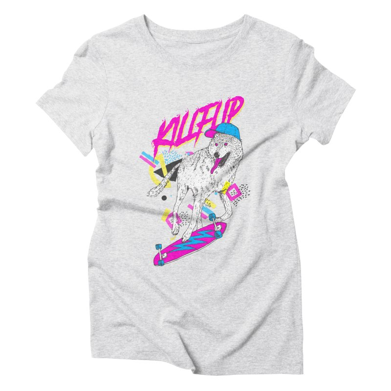 Kickflip Women's Triblend T-shirt by Astronaut's Artist Shop