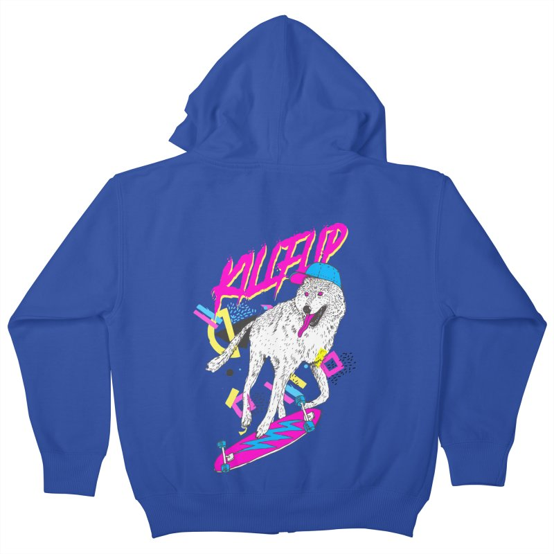 Kickflip Kids Zip-Up Hoody by Astronaut's Artist Shop