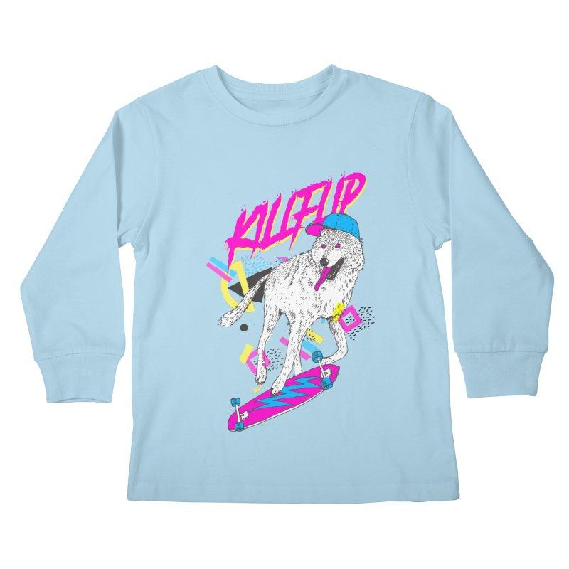 Kickflip Kids Longsleeve T-Shirt by Astronaut's Artist Shop