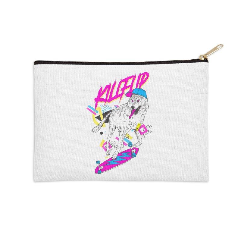 Kickflip Accessories Zip Pouch by Astronaut's Artist Shop