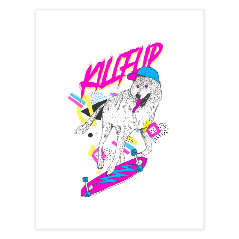 Kickflip Home Fine Art Print by Astronaut's Artist Shop