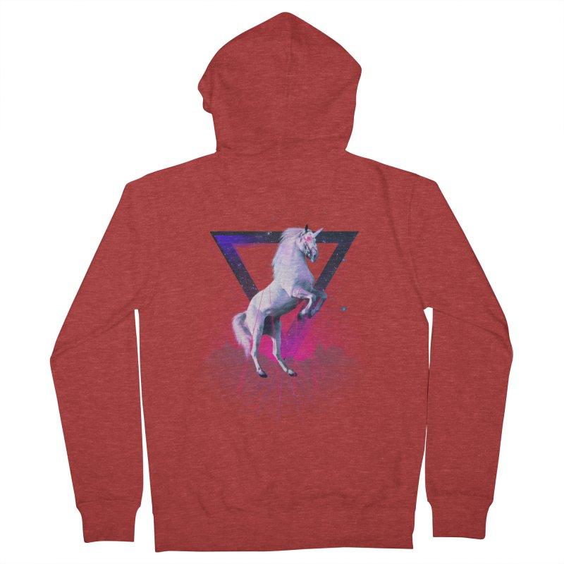 Last laser unicorn Women's Zip-Up Hoody by Astronaut's Artist Shop