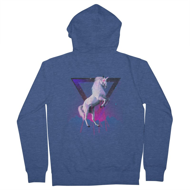 Last laser unicorn Men's Zip-Up Hoody by Astronaut's Artist Shop