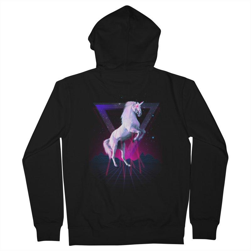 Last laser unicorn Men's Zip-Up Hoody by Astronaut's Artist Shop