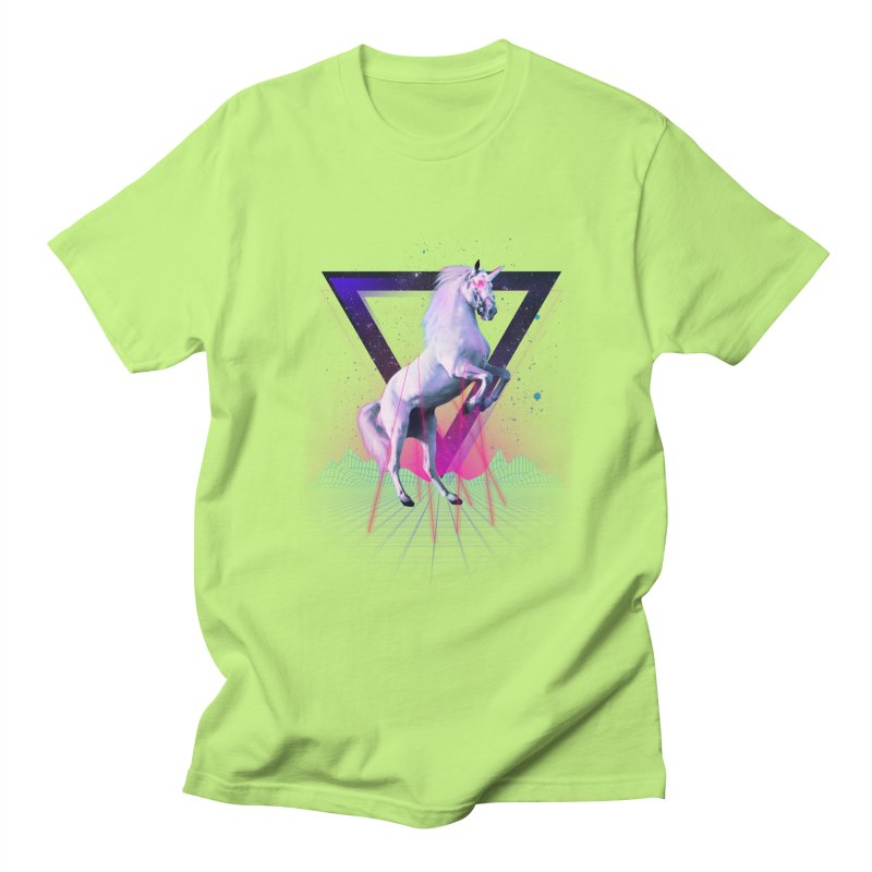 Last laser unicorn Men's T-shirt by Astronaut's Artist Shop