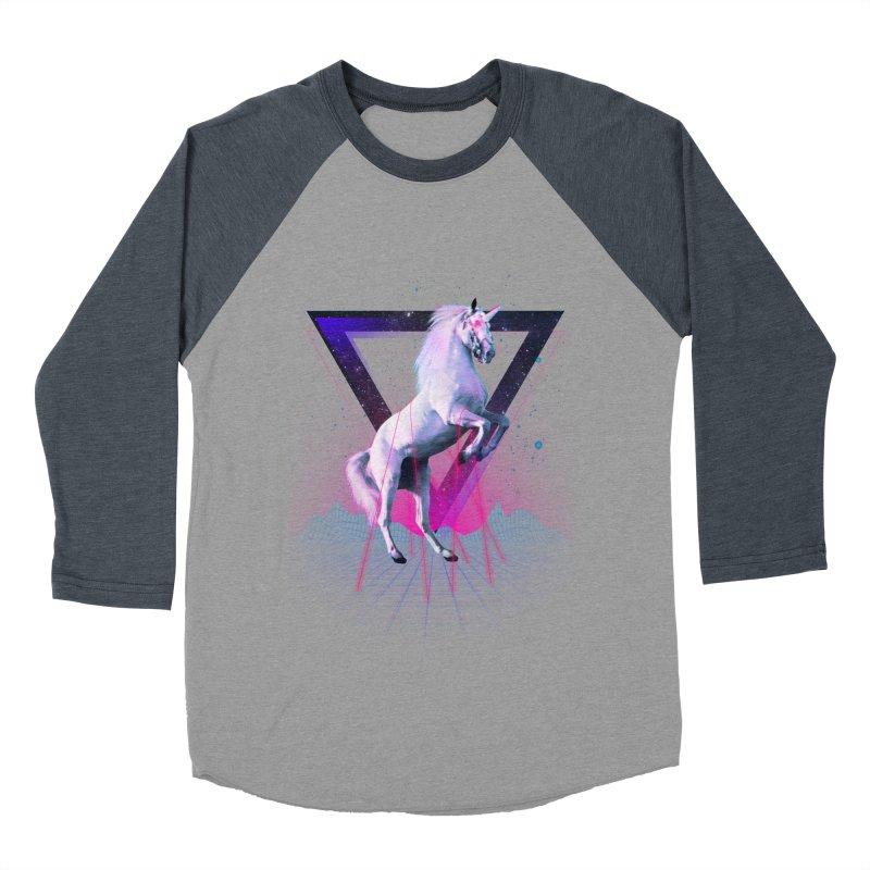 Last laser unicorn Men's Baseball Triblend T-Shirt by Astronaut's Artist Shop