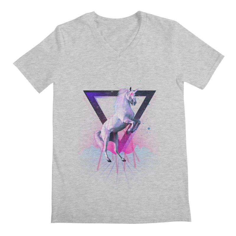 Last laser unicorn Men's V-Neck by Astronaut's Artist Shop