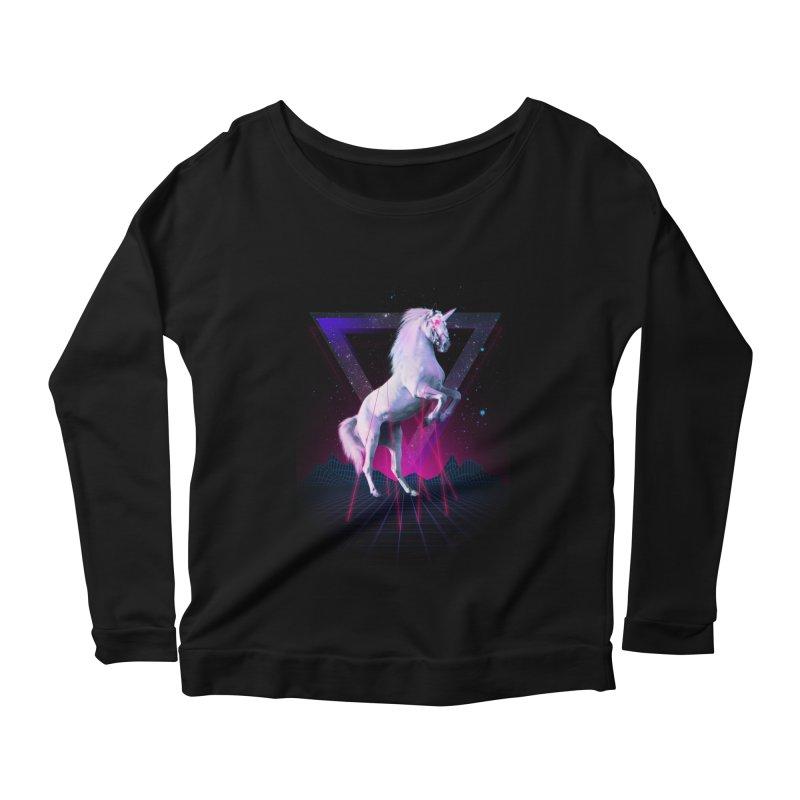 Last laser unicorn Women's Longsleeve Scoopneck  by Astronaut's Artist Shop