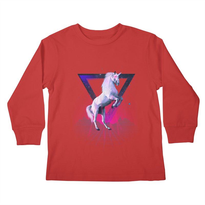 Last laser unicorn Kids Longsleeve T-Shirt by Astronaut's Artist Shop
