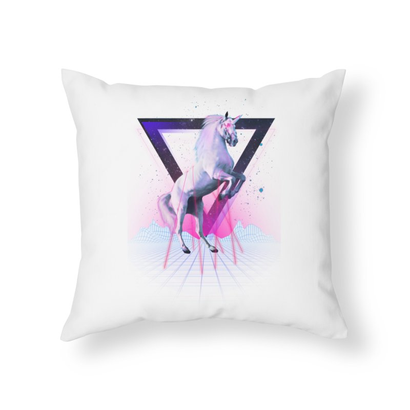 Last laser unicorn Home Throw Pillow by Astronaut's Artist Shop