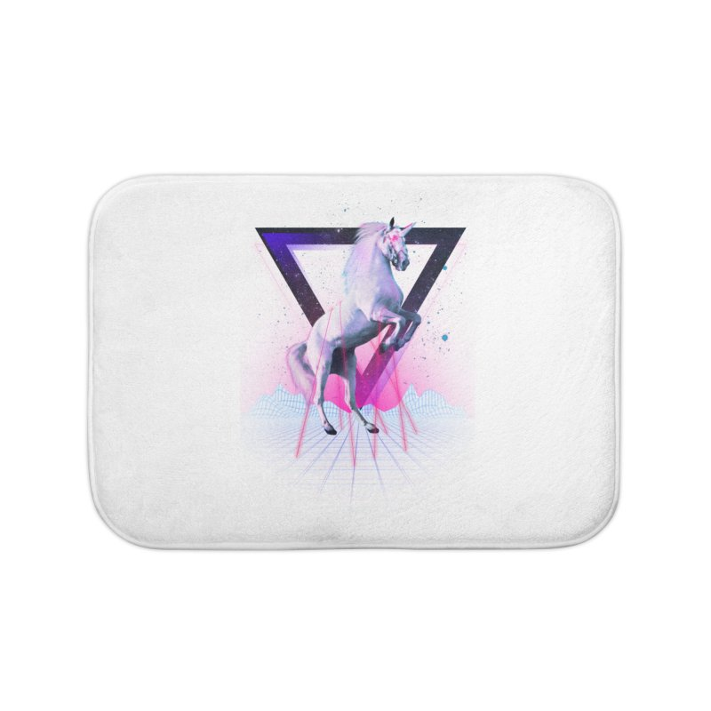Last laser unicorn Home Bath Mat by Astronaut's Artist Shop