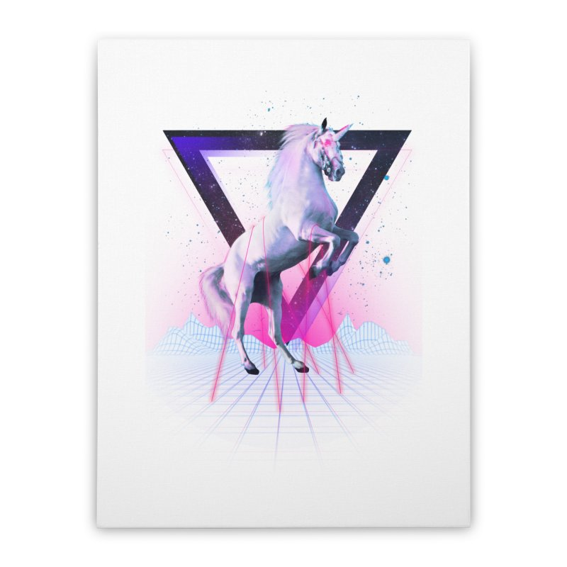 Last laser unicorn Home Stretched Canvas by Astronaut's Artist Shop