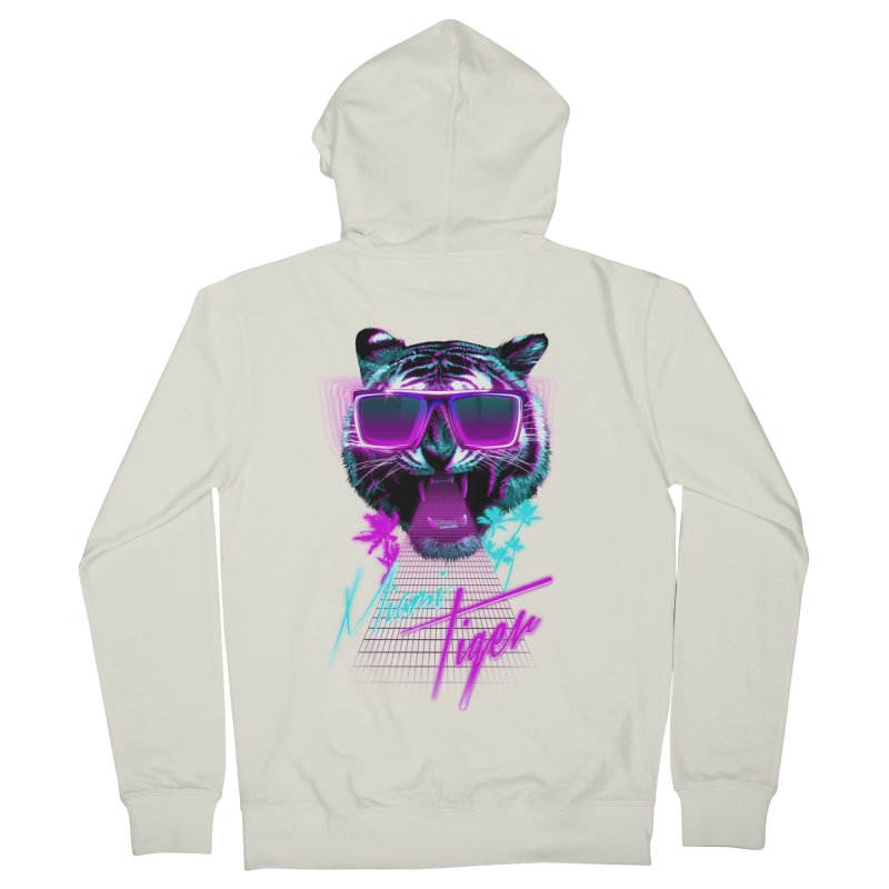 Miami tiger Men's Zip-Up Hoody by Astronaut's Artist Shop