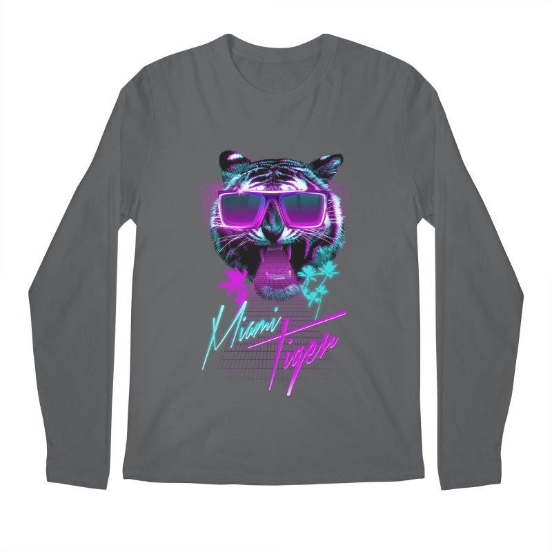 Miami tiger Men's Longsleeve T-Shirt by Astronaut's Artist Shop