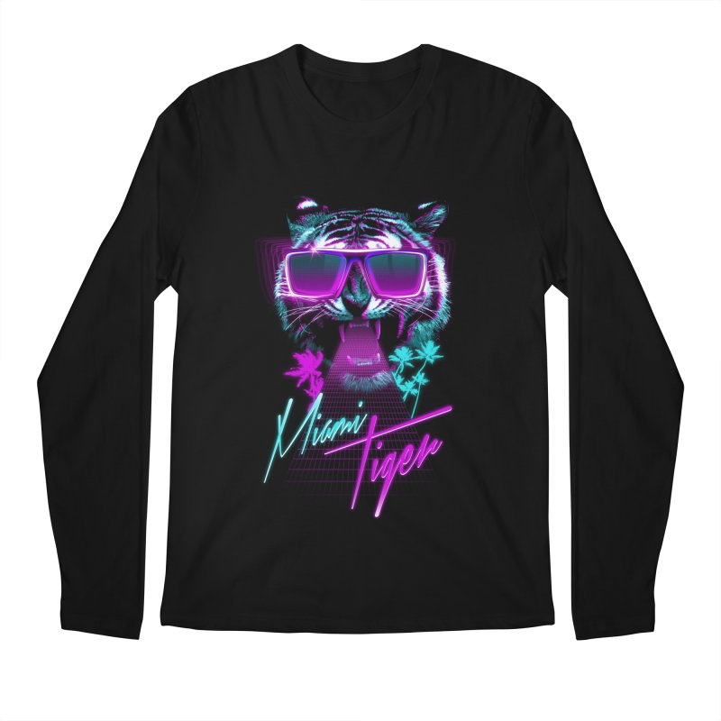 Miami tiger Men's Longsleeve T-Shirt by Astronaut's Artist Shop