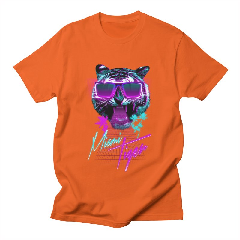 Miami tiger Men's T-shirt by Astronaut's Artist Shop
