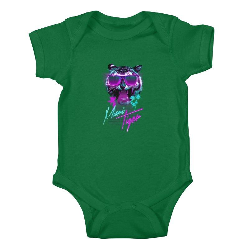 Miami tiger Kids Baby Bodysuit by Astronaut's Artist Shop