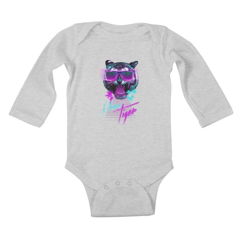 Miami tiger Kids Baby Longsleeve Bodysuit by Astronaut's Artist Shop