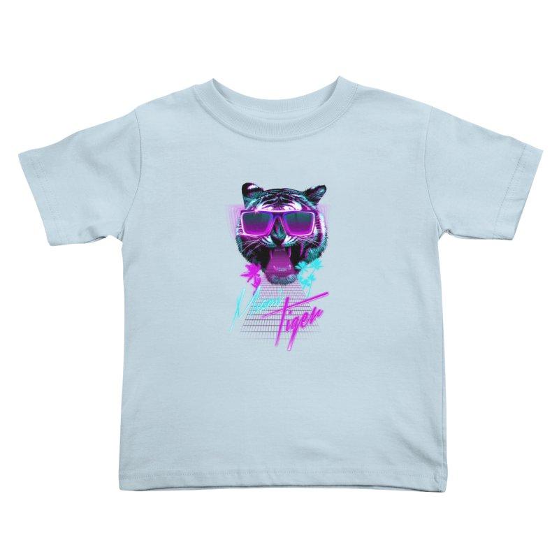 Miami tiger Kids Toddler T-Shirt by Astronaut's Artist Shop