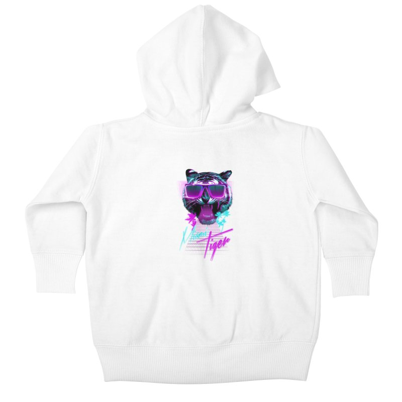 Miami tiger Kids Baby Zip-Up Hoody by Astronaut's Artist Shop