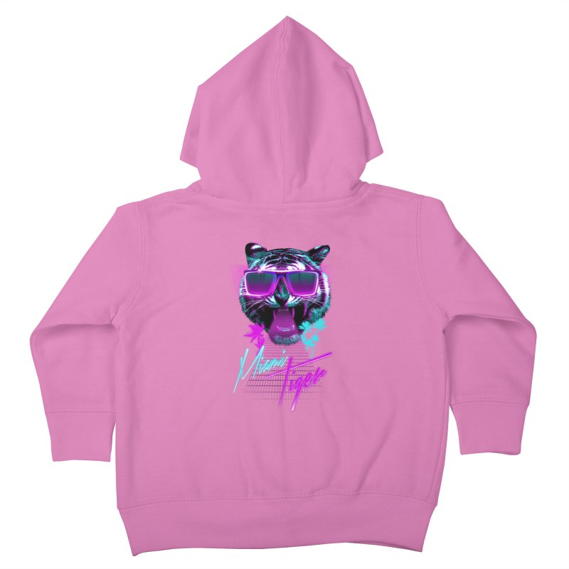 Miami tiger Kids Toddler Zip-Up Hoody by Astronaut's Artist Shop