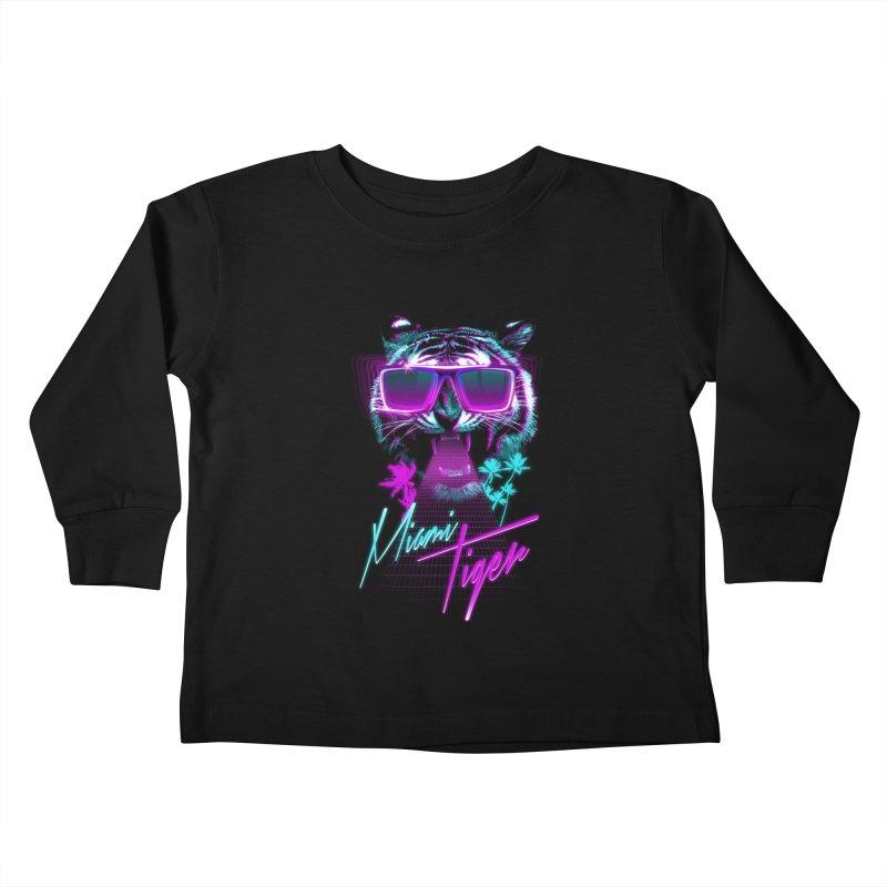 Miami tiger Kids Toddler Longsleeve T-Shirt by Astronaut's Artist Shop