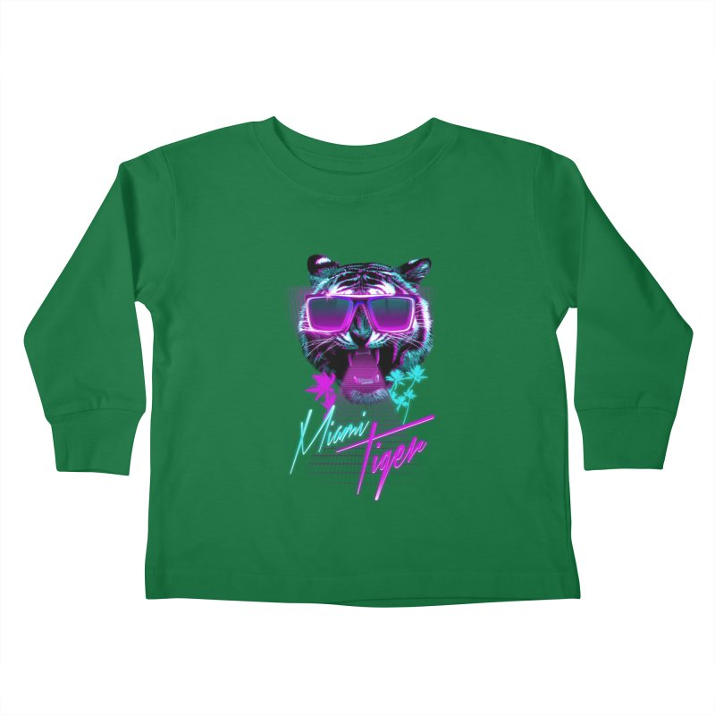 Miami tiger Kids Toddler Longsleeve T-Shirt by Astronaut's Artist Shop