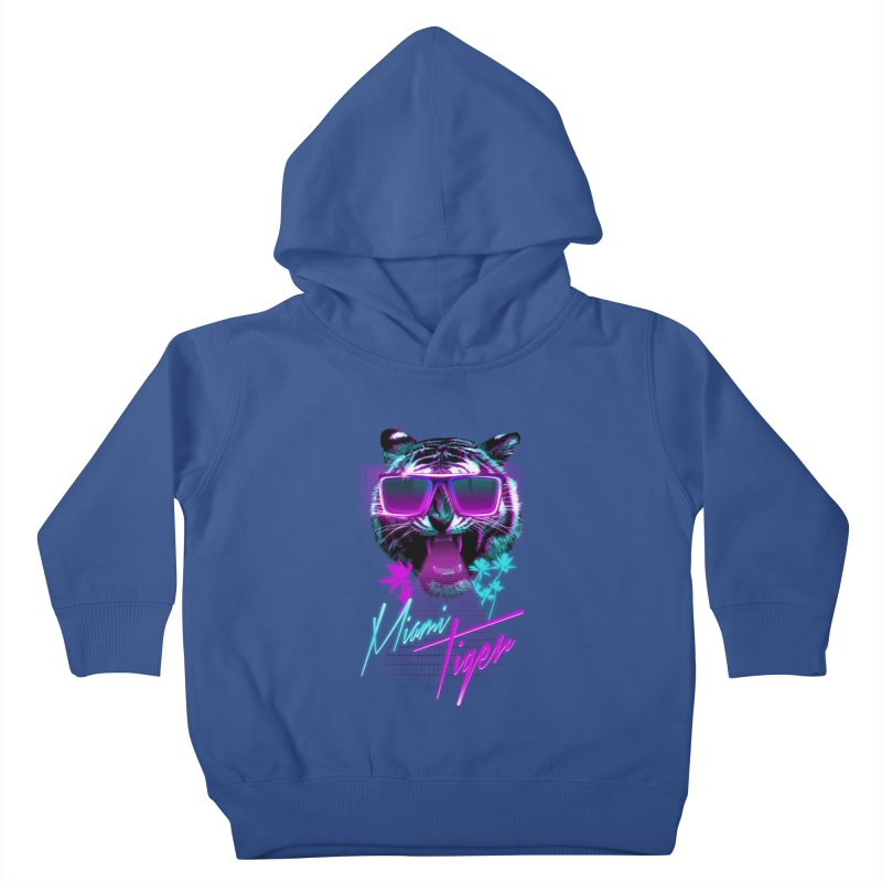 Miami tiger Kids Toddler Pullover Hoody by Astronaut's Artist Shop