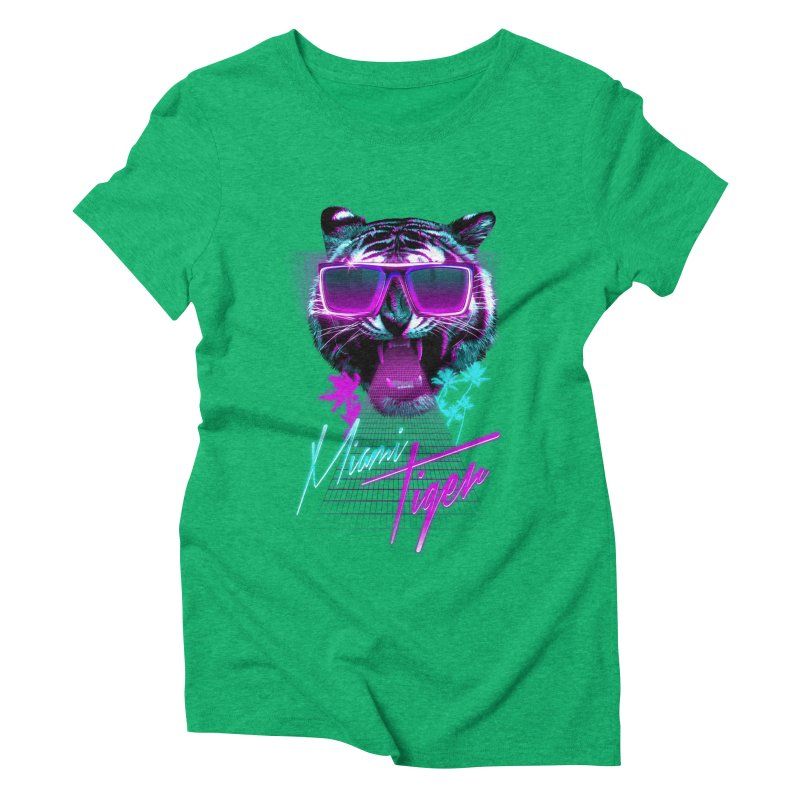 Miami tiger Women's Triblend T-shirt by Astronaut's Artist Shop