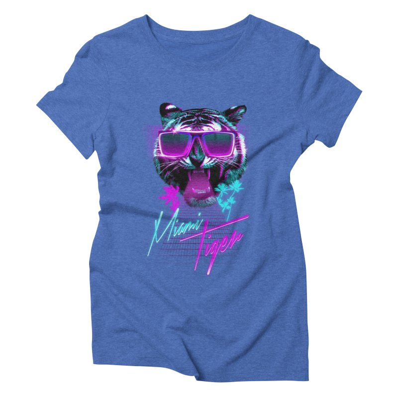 Miami tiger Women's Triblend T-shirt by Astronaut's Artist Shop