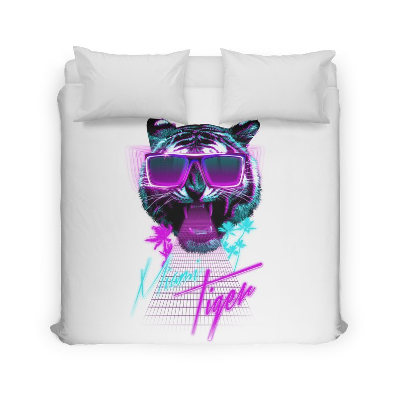 Miami tiger Home Duvet by Astronaut's Artist Shop