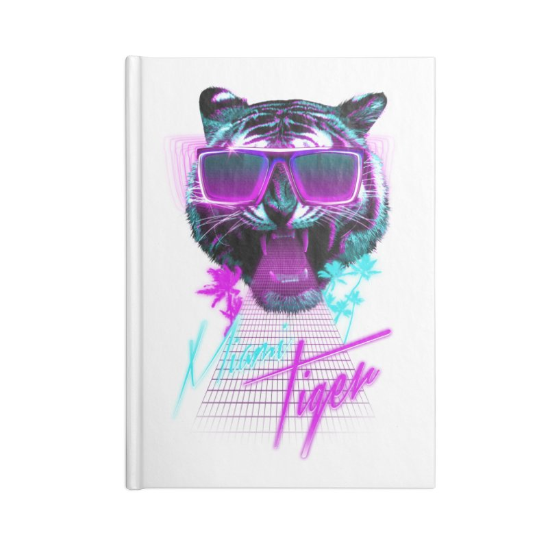 Miami tiger Accessories Notebook by Astronaut's Artist Shop